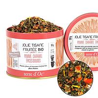 Органический фруктовый тизан с яблоком,карамелью и сладкими специями,90г Terre d'Oc