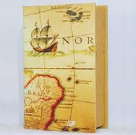 """Книга-сейф """"Карта"""" на ключике 705-3"""