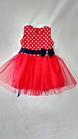 """Нарядное платье для выпуска """"Ретро"""" красного цвета для девочек 2до 6 (26-32 размер)"""