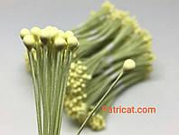 Тайские тычинки Лимонные на проволоке 5 мм 25 шт/уп