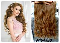 Волосы на заколках затылочная прядь волна №6а/30 длина 55см