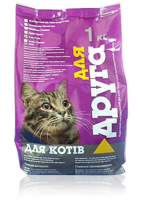 Корм коты для друга (классик) 1 кг
