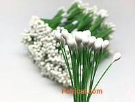 Тайские тычинки Белые на проволоке 5 мм 25 шт/уп