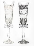 Свадебные бокалы  Голуби