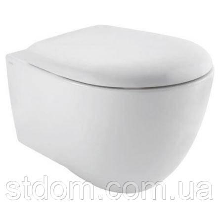 Унитаз подвесной 55х38 Globo Bowl+ (Plus) SBS02.BI белый глянец