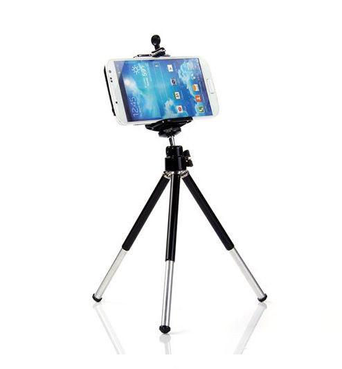Штатив трипод з платформою для смартфона з телескопічними ніжками 15-20см ЧОРНИЙ SKU0000709