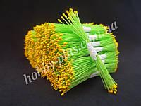 Тайские тычинки, ЖЕЛТЫЕ, мелкие на салатовой нити, 23-25 нитей, 50 головок