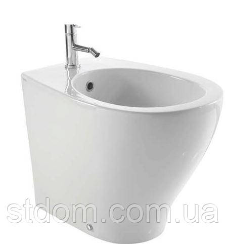 Биде напольное пристенное 55х38 Globo Bowl+ (Plus) BP009.BI белый глянец