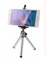 Штатив трипод с платформой для смартфона с телескопическими ножками 15-20 см СЕРЕБРИСТЫЙ SKU0000710, фото 1