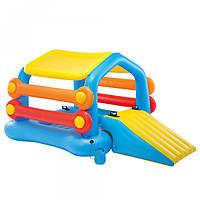 Детский надувной игровой центр с горкой intex 58294