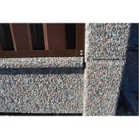 Столб с фундаментной плитой для наборных заборов Плита фундаментная (двух-няя), Базальт черный
