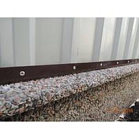 Столб с фундаментной плитой для наборных заборов Плита фундаментная (двух-няя), Мрамор кремовый