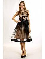 Выпускное платье с вышивкой коктельное