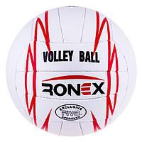 Мяч волейбольный Ronex Orignal Grippy Red/Black RX-V-GRRB. Распродажа!