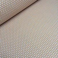 Хлопковая ткань с косичками светло-коричневого цвета №066