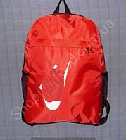 Рюкзак 15 л 113993 красный с белым школьный спортивный размер 27 см х 40 см х 15 см карман спереди