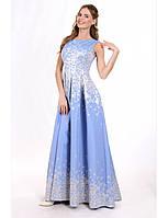 Выпускное платье в пол из жаккарда 3 цвета