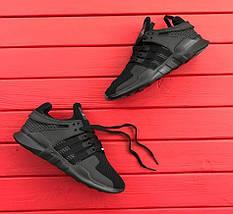 """Мужские кроссовки Adidas EQT Running Support ADV """"Black"""", фото 2"""