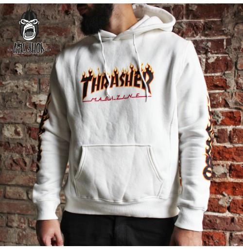 Худи мужская серая Thrasher Logo Толстовка