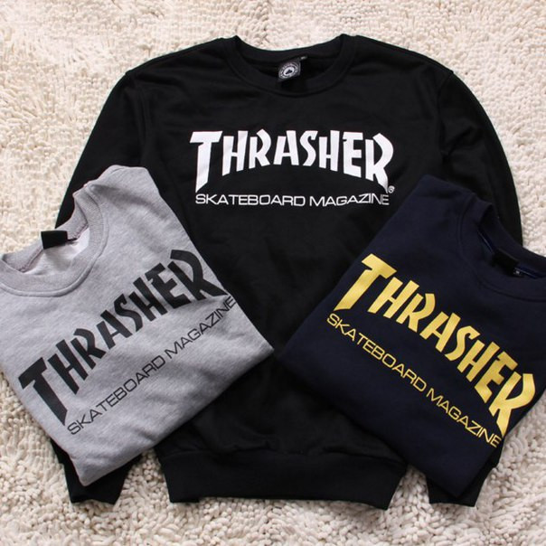 Свитшот THRASHER Skateboard Magazine |Оригинальная бирка