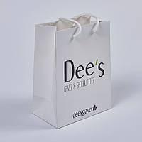 Бумажный пакет с логотипом из офсетной бумаги 240х200х80
