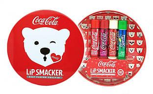 Подарочный набор бальзамов для губ Кока Кола Smackers Best Flavor Forever Coca Cola 4 шт.