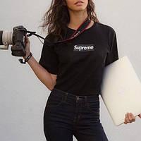 Футболка Supreme box black с принтом женская
