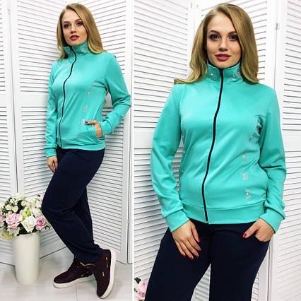 1f50fb56a262 Женский стильный спортивный костюм в больших размерах 503-1