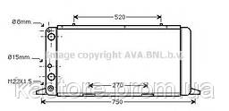 Радиатор AUDI80/90/COUP/CABR 86-91