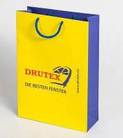 Бумажный пакет с логотипом из картона 370х250х80