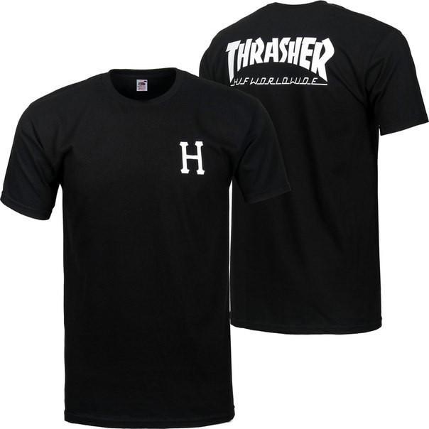 Футболка мужская с принтом Thrasher logo back