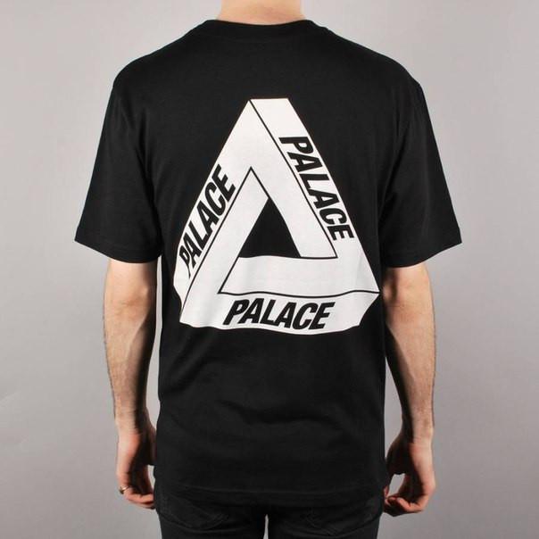 Футболка мужская с принтом Palace logo tringle