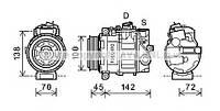 Компрессор кондиционера MERCEDES C-CLASS W203 00-