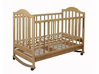 Детская кроватка из натуральной ольхи для новорожденного
