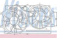Вентилятор радиатора FORD FOCUS I (98-) 1.8 EFi С КОНДИЦИОНЕРОМ