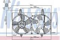 Вентилятор радиатора NISSAN MAXIMA QX (A33) (00-)