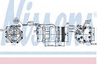 Компрессор кондиционера AUDI A3 96- INCL ADAPTER (Nissens)