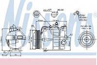 Компрессор кондиционера MERCEDES C-CLASS W 204 (07-)
