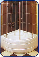 Распашная шторка на ванну 1500х1000х1000