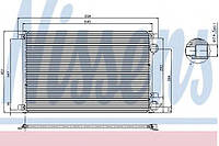 Конденсатор кондиционера RENAULT SCENIC II (03-) 2.0 i 16V