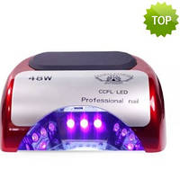 Лед лампа для ногтей гибридная уф led ccfl 48 ватт,  гибридная, led лампа для гель лака,  уф лампа для ногтей