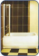 Распашная шторка на ванну 1400х1000