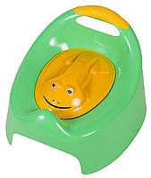 Горшок Tega Жабка С Крышкой AG-004 FROG зеленые (с желтой крышкой)