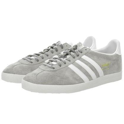 Мужские кроссовки Adidas Gazelle OG серые с белым