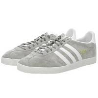 Мужские кроссовки Adidas Gazelle OG серые с белым, фото 1