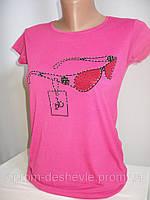 Однотонные футболки с рисунком для девочек.