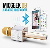 Безпровідний Мікрофон Караоке з вбудованою акустикою Q9 (USB + AUX + SD)