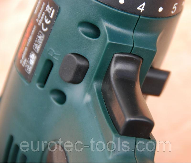 Аккумуляторный шуруповёрт 18 В Eurotec CD 105, кнопка с переключателем реверса