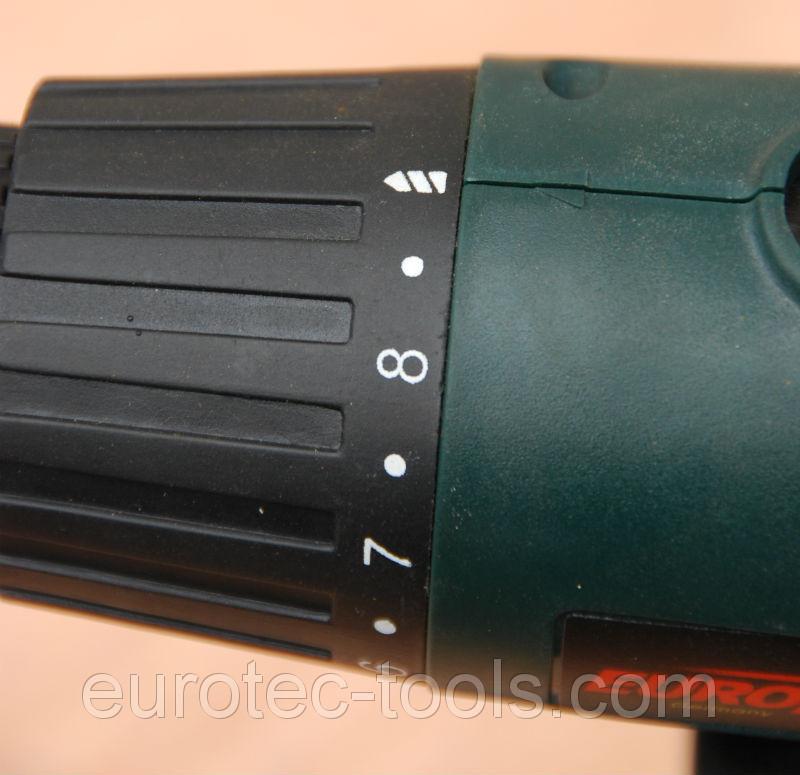 Аккумуляторный шуруповёрт 18 В Eurotec CD 105, муфта-регулятор крутящего момента