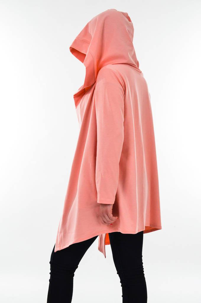 Мантия с капюшоном. Накидка розового цвета. Кардиган. Кофта женская от  производителя 6ff064e64f8